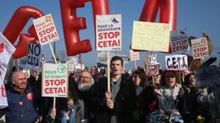 Протесты против CETA
