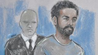 Court sketch of Arthur Simpson-Kent from first court appearance at Westminster Magistrates Court