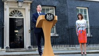 David Cameron announcing he will stand down