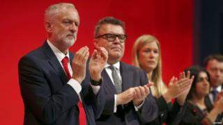 Jeremy Corbyn, Tom Watson and other Labour figures at the party conference
