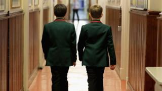 Pupils at a grammar school