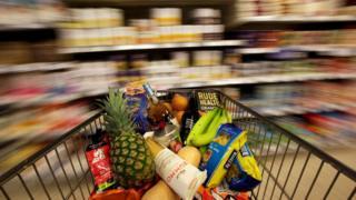 trolley of food