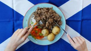 Traditional Burns Night meal