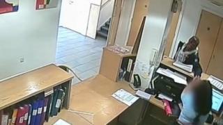 The suspect captured on CCTV