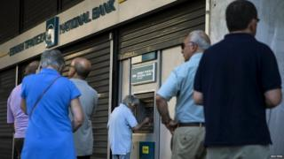 Cashpoint in Athens - file pic