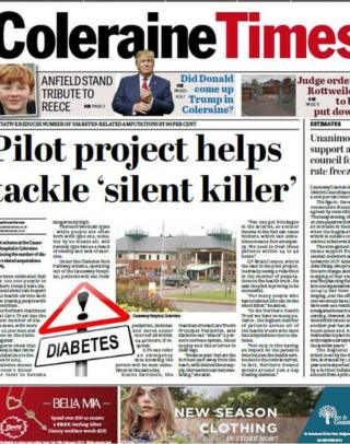 Coleraine Times front page 9/2/17