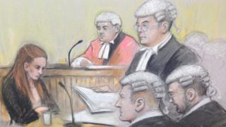 Court sketch of Shauna Hoare