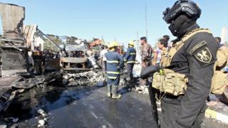 Scene of blast