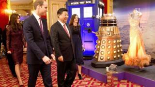 Xi Jinping, Prince William and dalek