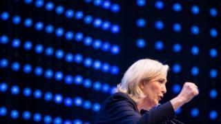 フランスの極右政党、国民戦線のルペン党首