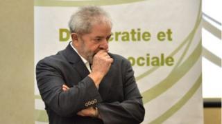 """Brazilian former president Luiz Inacio Lula da Silva takes part in the seminar """"Democracy and Social Justice"""", in Sao Paulo, Brazil on 25 April, 2016."""