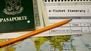 Pasaporte y pasaje