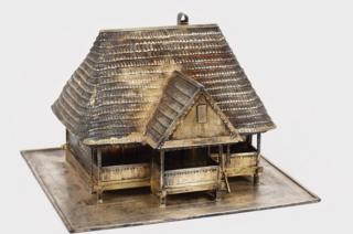 Model of Ceausescu's childhood home