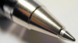 A ballpoint pen
