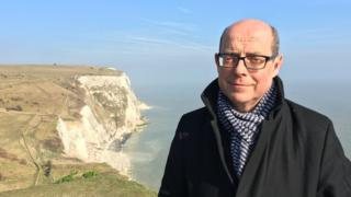 Nick Robinson at the White Cliffs of Dover