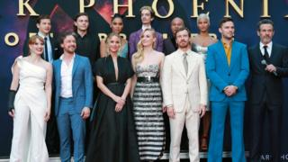 Dark Phoenix stars line up on the red carpet