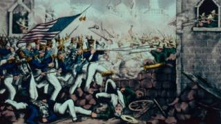 The battle of Monterrey 1846.
