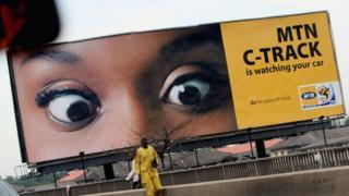 MTN billboard in Lagos, Nigeria