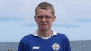Tom Bedford in a Leicester City shirt