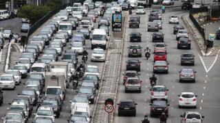 Trânsito pesado em São Paulo