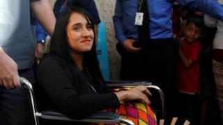 Ximena Suárez tras salir del hospital en Colombia