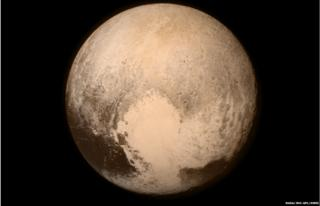 This image of Pluto was taken on Tuesday and was downlinked just before the flyby