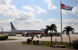 An American Airlines a jet at Jose Marti International Airport