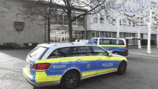 Police cars outside Gaggenau town hall, 3 Mar 17