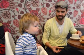 Fredrik and his son Elton