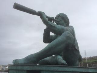 Statue in Whitehaven in Cumbria