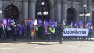 Justice for Jannies Demo