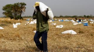 сбор гуманитарной помощи в Южном Судане