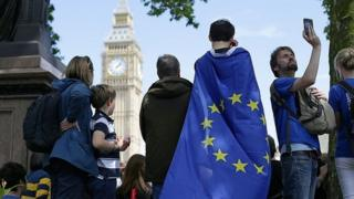 Protesters taking part in March for Europe rally in July