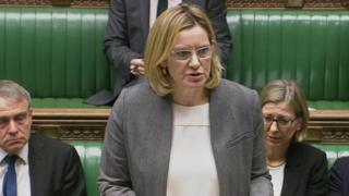 Amber Rudd in House of Commons