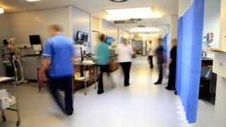 Hospital ward corridor