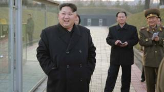 North Korean leader Kim Jong-un tours a military site in Pyongyang