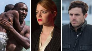 Mahershala Ali, Emma Stone and Casey Affleck