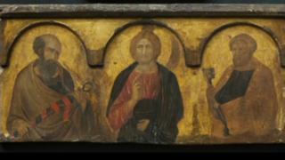 Restored Pietro Lorenzetti painting