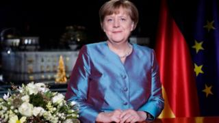 "New Year""s speech from Chancellor Angela Merkel"