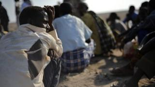 Ethiopian immigrants from the Oromo region in Djibouti on 5 December 2010