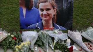 Tributes to Jo Cox in Parliament Square