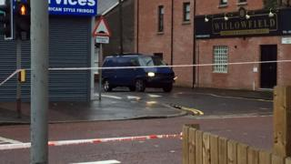 A bomb exploded under a van in east Belfast on Friday morning