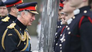 Prince of Wales at Sandhurst on 11 December 2015