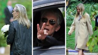 Meryl Streep, Jamie Lee Curtis and Gwyneth Paltrow at Debbie Reynolds and Carrie Fisher memorial