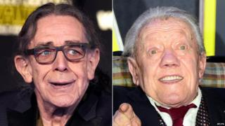 Peter Mayhew and Kenny Baker