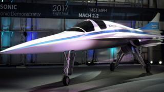 The XB-1 supersonic jet prototype