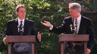 Tony Blair and Bill Clinton in 1997