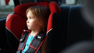 Child in child seat