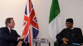 David Cameron and Nigeria's President Buhari