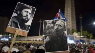 People gather at Revolution Square to pay homage to late Cuban revolutionary leader Fidel Castro, in Havana, on November 29, 2016.